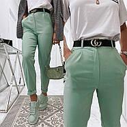 Ультрамодні жіночі джинси із завищеною талією, 00755 (Бірюзовий), Розмір 42 (S), фото 4
