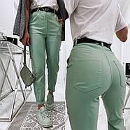 Ультрамодні жіночі джинси із завищеною талією, 00755 (Бірюзовий), Розмір 42 (S), фото 5