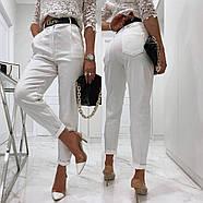 Стильные женские штаны с чуть завышенной талией, 00756 (Белый), Размер 46 (L), фото 3