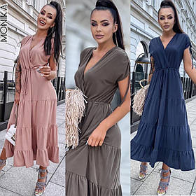 Стильное летнее длинное платье сарафан
