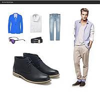 Элегантные мужские кожаные ботинки. Модель 04105., фото 8