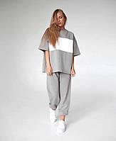 Жіночий стильний костюм двійка: футболка і штани, фото 1