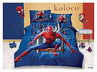 Детское полуторное постельное белье (постель Frozen Koloco 100% хлопок) Спайдермен