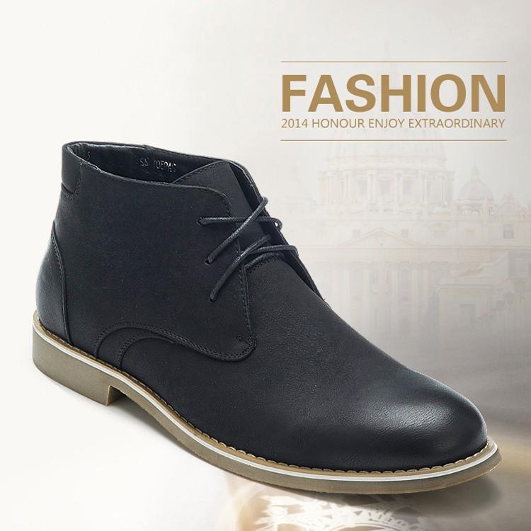 Элегантные мужские кожаные ботинки. Модель 04105.