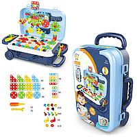 Игровой набор чемодан PAZZLE interest assemble toy 137 PCS suitcase, фото 1