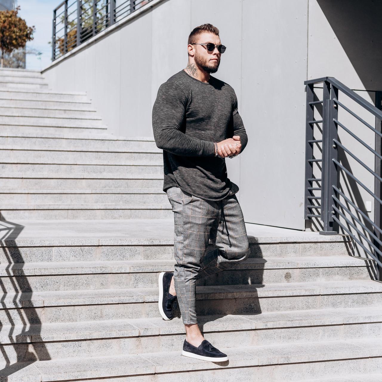 Комплект штани і лонг темно-сірий чоловічі Асос | Демісезонний ЛЮКС якості