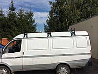 """Багажник на крышу модельный Газель в сборе с палкой (1,75м) """"Кенгуру"""" (высота планки от водостока 31см)"""