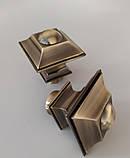 Карниз для штор металевий БОРДЖЕЗА подвійний 19+19 мм 1.6м Античне золото, фото 2