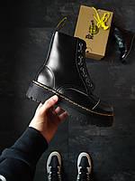 Женские зимние ботинки Dr. Martens Jadon ( с натуральным мехом)