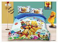 Детское полуторное постельное белье (постель Frozen Koloco 100% хлопок) Винни Пух и компашка