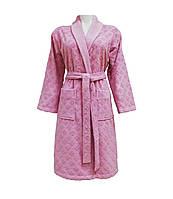 Халат жіночий велюровий Class Clerica Woman Pink р.S, M, L