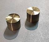 Карниз для штор металевий подвійний 19+16мм ЗАГЛУШКА Довжина 2.4 м Колір Античне золото, фото 2