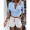Жіноча стильна блузка з V-подібним декольте