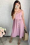 Женское платье летнее красивое длины Миди  (Норма,Батал), фото 5