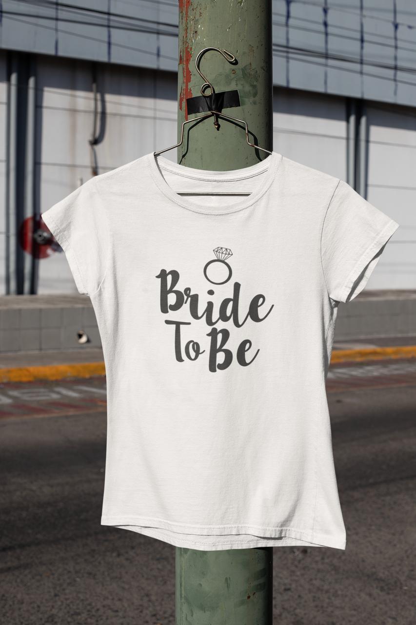 "Футболки с принтом на девичник ""Bride to be"""