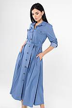 Джинсовое платье-рубашка  размер S,M,L,XL,2XL (дев )