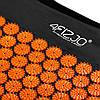 Килимок акупунктурний з валиком 4FIZJO Аплікатор Кузнєцова 128 x 48 см 4FJ0049 Black/Orange, фото 2