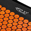 Коврик акупунктурный с валиком 4FIZJO Аппликатор Кузнецова 128 x 48 см 4FJ0049 Black/Orange, фото 2