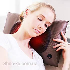 Массажная подушка роликовая с прогревом Benbo AM-506 с анатомической памятью