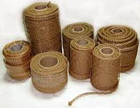 Веревка льняная для декора деревянного дома диам. 25 мм (в бобинах по 50 м.п.)