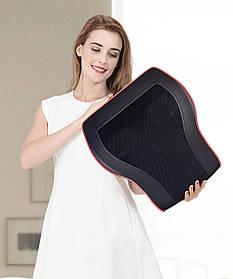 Массажная подушка  с подогревом |  роликовый массажер для спины и шеи | роликовый массажер