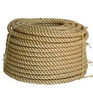 Веревка джутовая для декора деревянного дома диам. 30 мм (в бабинах по 50 м.п.), фото 1
