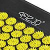 Коврик акупунктурный с валиком 4FIZJO Аппликатор Кузнецова 128 x 48 см 4FJ0087 Black/Yellow, фото 3
