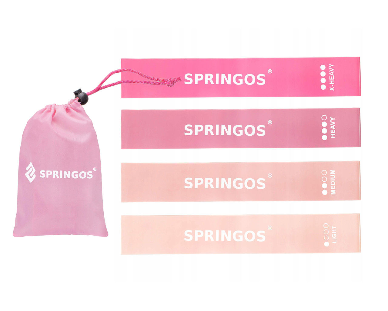 Гумка для фітнесу і спорту (стрічка-еспандер) Springos Mini Power Band 4 шт 0-20 кг PB0019