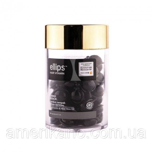 Ellips Витамины для волос «Ночное сияние» с фундуком и маслом Алоэ Вера 50шт*1ml