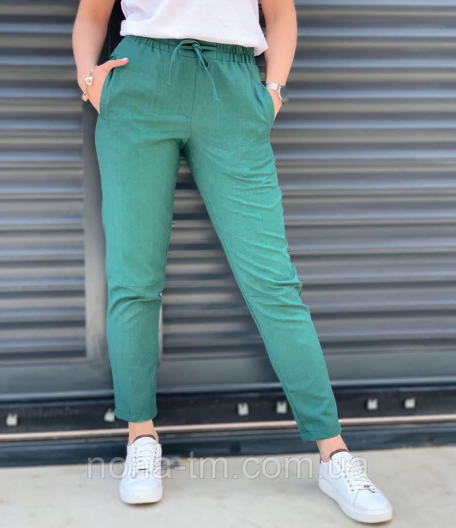 Женские брюки летнее с карманами (Норма, Батал)