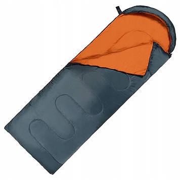 Спальний мішок (спальник) ковдра SportVida SV-CC0065 +2 ...+ 21°C R Navy Green/Orange