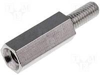 Стойка дистанцирующая TFM-M3/10 шестигранная с внутренней/наружной резьбой M3/M3х10мм металлическая