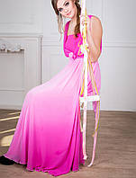 Вечернее легкое платье | Мираж lzn фуксия