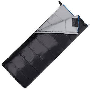 Спальний мішок (спальник) ковдра SportVida SV-CC0068 -3 ...+ 21°C R Black/Grey