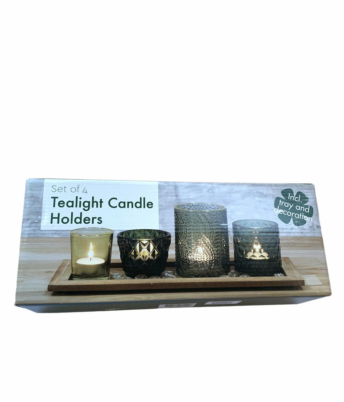 Набір свічників на дерев'яній основі Edeka