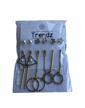 Набір сережок-цвяшків Trendz