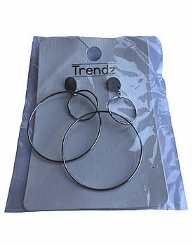 Набір сережок-колечок Trendz