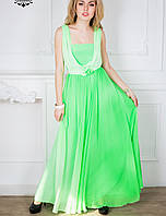 Вечернее легкое платье | Мираж lzn салатный