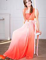Вечернее легкое платье | Мираж lzn коралл