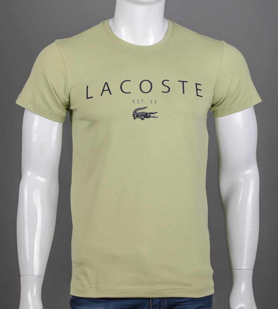 -Р- Футболка мужская LACOSTE Фисташковый (2006м), XL