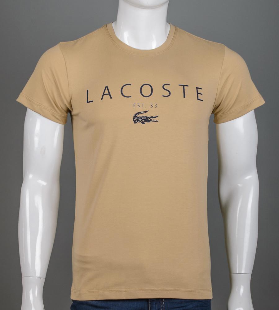 -Р - Футболка чоловіча LACOSTE Пісочний (2006), XL