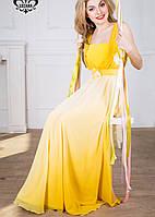 Вечернее легкое платье | Мираж lzn желтый