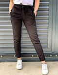 Женские брюки летние зауженные из льна (Норма, Батал), фото 4