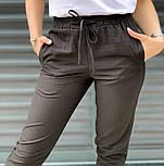 Женские брюки летние зауженные из льна (Норма, Батал), фото 5