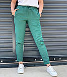 Женские брюки летние зауженные из льна (Норма, Батал), фото 6