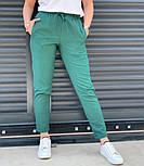 Жіночі брюки літні завужені з льону (Норма, Батал), фото 6