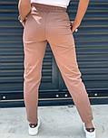 Женские брюки летние зауженные из льна (Норма, Батал), фото 3