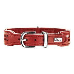 Ошейник Hunter кожаный «Diamond Elk Petit» 23-27 см / 16 мм (красный)