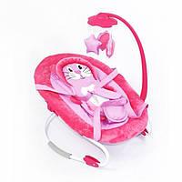 Детский шезлонг-качалка Kronos Toys BT-BB-0002PIN Розовый tsi49312, КОД: 288082
