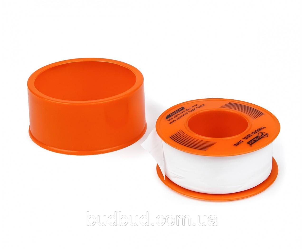 Тефлоновая лента уплотнительная 15м*19мм*0,1мм (52-002) POLAX
